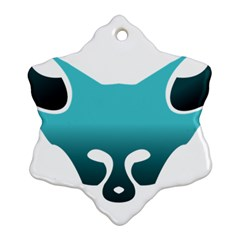 Fox Logo Blue Gradient Ornament (snowflake)  by carocollins