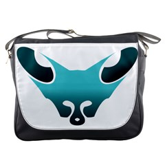 Fox Logo Blue Gradient Messenger Bags by carocollins