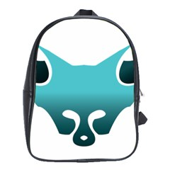 Fox Logo Blue Gradient School Bags (xl)  by carocollins