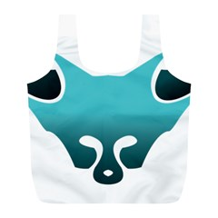 Fox Logo Blue Gradient Full Print Recycle Bags (l)  by carocollins