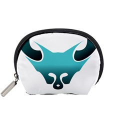 Fox Logo Blue Gradient Accessory Pouches (small)  by carocollins