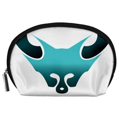 Fox Logo Blue Gradient Accessory Pouches (large)  by carocollins