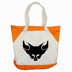 Black Fox Logo Accent Tote Bag  by carocollins