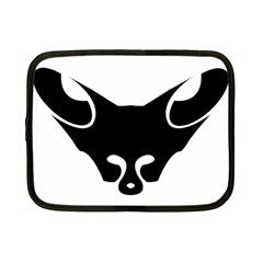 Black Fox Logo Netbook Case (small)  by carocollins