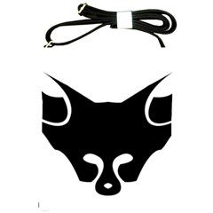 Black Fox Logo Shoulder Sling Bags by carocollins
