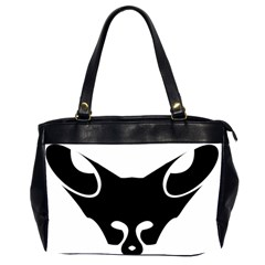 Black Fox Logo Office Handbags (2 Sides)  by carocollins