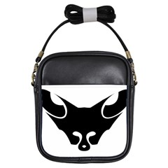Black Fox Logo Girls Sling Bags by carocollins