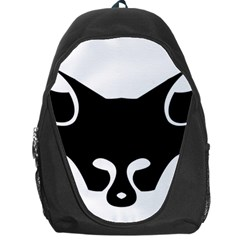 Black Fox Logo Backpack Bag by carocollins