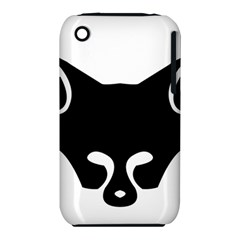 Black Fox Logo Apple Iphone 3g/3gs Hardshell Case (pc+silicone) by carocollins