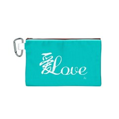 love (ai) Canvas Cosmetic Bag (Small) by walala