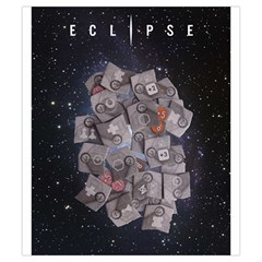 Eclipse By Herbert Harengel   Drawstring Pouch (small)   Z19iff2hx7cc   Www Artscow Com Back