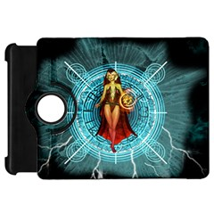 Beautiful Witch With Magical Background Kindle Fire Hd Flip 360 Case by FantasyWorld7