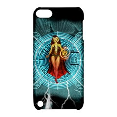 Beautiful Witch With Magical Background Apple Ipod Touch 5 Hardshell Case With Stand by FantasyWorld7