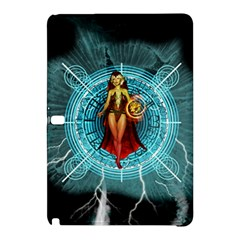 Beautiful Witch With Magical Background Samsung Galaxy Tab Pro 12 2 Hardshell Case by FantasyWorld7