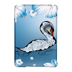 Wonderful Swan Made Of Floral Elements Apple iPad Mini Hardshell Case (Compatible with Smart Cover) by FantasyWorld7