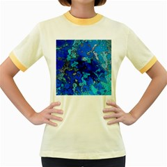 Cocos Blue Lagoon Women s Fitted Ringer T Shirts by CocosBlue