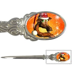 Funny Cute Christmas Giraffe With Christmas Hat Letter Openers by FantasyWorld7
