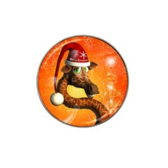 Funny Cute Christmas Giraffe With Christmas Hat Hat Clip Ball Marker (10 Pack) by FantasyWorld7