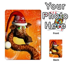 Funny Cute Christmas Giraffe With Christmas Hat Multi Purpose Cards (rectangle)
