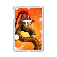 Funny Cute Christmas Giraffe With Christmas Hat Ipad Mini 2 Enamel Coated Cases by FantasyWorld7