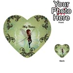 Cute Elf Playing For Christmas Multi-purpose Cards (Heart)  Back 38