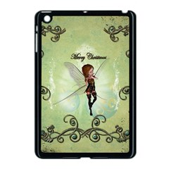 Cute Elf Playing For Christmas Apple Ipad Mini Case (black) by FantasyWorld7