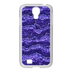 Alien Skin Blue Samsung GALAXY S4 I9500/ I9505 Case (White) by ImpressiveMoments