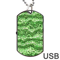 Alien Skin Green Dog Tag USB Flash (Two Sides)  by ImpressiveMoments
