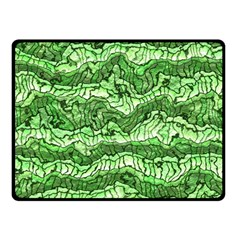Alien Skin Green Double Sided Fleece Blanket (small)  by ImpressiveMoments
