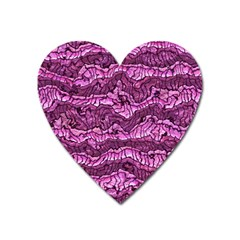 Alien Skin Hot Pink Heart Magnet by ImpressiveMoments