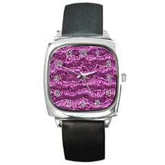 Alien Skin Hot Pink Square Metal Watches by ImpressiveMoments