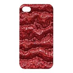 Alien Skin Red Apple Iphone 4/4s Premium Hardshell Case by ImpressiveMoments