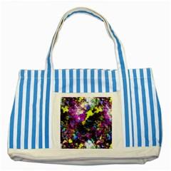 Colour Splash G264 Striped Blue Tote Bag  by MedusArt