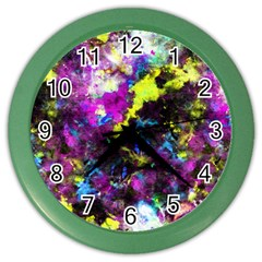 Colour Splash G264 Color Wall Clocks by MedusArt