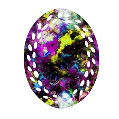 Colour Splash G264 Oval Filigree Ornament (2 Side)  by MedusArt