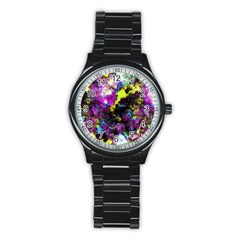 Colour Splash G264 Stainless Steel Round Watches by MedusArt