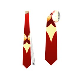 Funny, Cute Christmas Owl  With Christmas Hat Neckties (two Side)  by FantasyWorld7