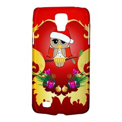 Funny, Cute Christmas Owl  With Christmas Hat Galaxy S4 Active by FantasyWorld7
