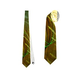 Beautiful Abstract Floral Design Neckties (Two Side)