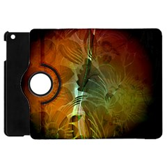 Beautiful Abstract Floral Design Apple Ipad Mini Flip 360 Case by FantasyWorld7