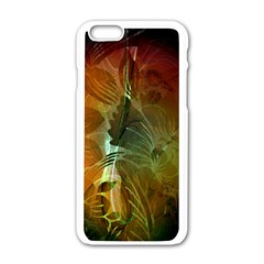 Beautiful Abstract Floral Design Apple Iphone 6/6s White Enamel Case