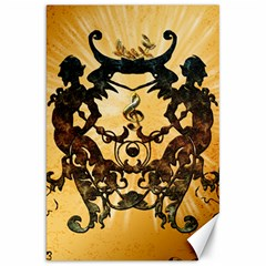 Clef With Awesome Figurative And Floral Elements Canvas 20  X 30   by FantasyWorld7