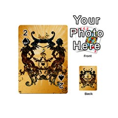 Clef With Awesome Figurative And Floral Elements Playing Cards 54 (mini)  by FantasyWorld7