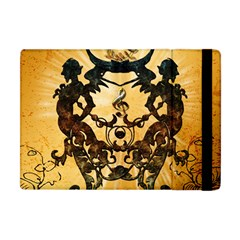 Clef With Awesome Figurative And Floral Elements Apple Ipad Mini Flip Case by FantasyWorld7