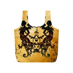 Clef With Awesome Figurative And Floral Elements Full Print Recycle Bags (s)  by FantasyWorld7
