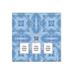Blue Design Bandana Scarf - Satin Bandana Scarf