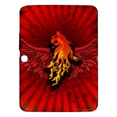 Lion With Flame And Wings In Yellow And Red Samsung Galaxy Tab 3 (10 1 ) P5200 Hardshell Case  by FantasyWorld7