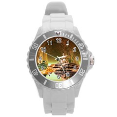 Wonderful Undergraund World Round Plastic Sport Watch (l) by FantasyWorld7
