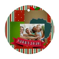 Xmas By Joy   Round Ornament (two Sides)   P2actj8qqols   Www Artscow Com Back