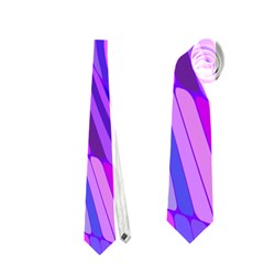 Retro Abstract Blue Pink Neckties (two Side)